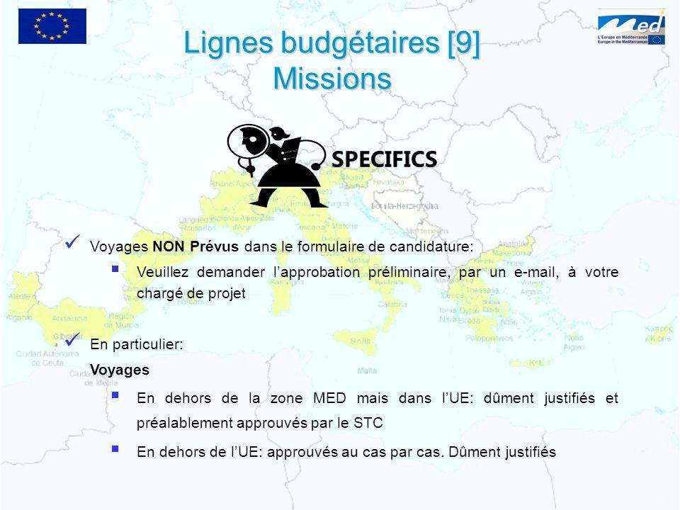 Lignes budgétaires [9] Missions